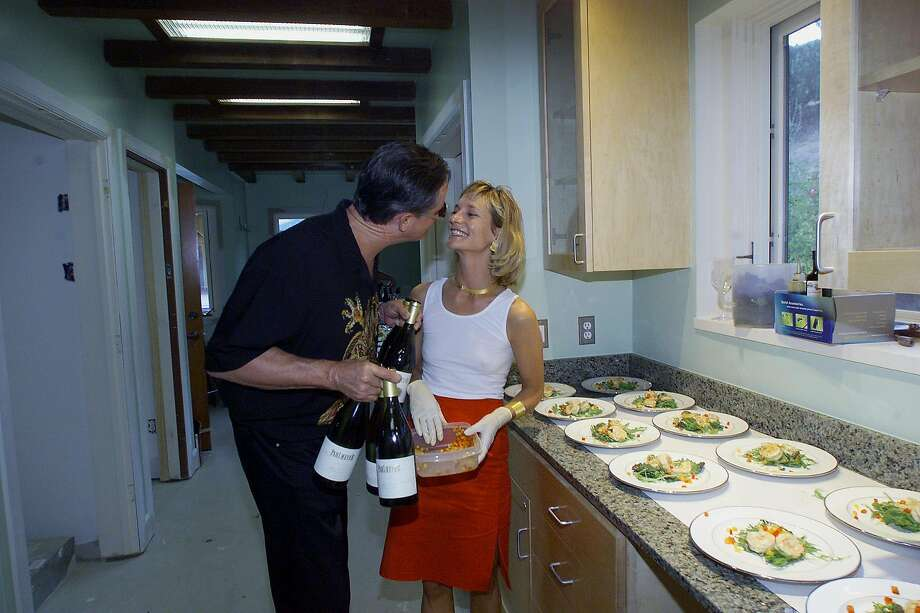Jayson and Paige Pahlmeyer at an event in Calistoga in 2002. Photo: John O'Hara / The Chronicle 2002