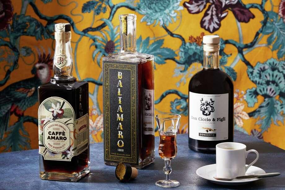 Bottles, from left, J. Rieger & Co.'s Caffè Amaro, Baltimore Spirits Co.'s Baltamaro and Don Ciccio & Figli's Concerto. Photo: Photo By Tom McCorkle For The Washington Post. / For The Washington Post