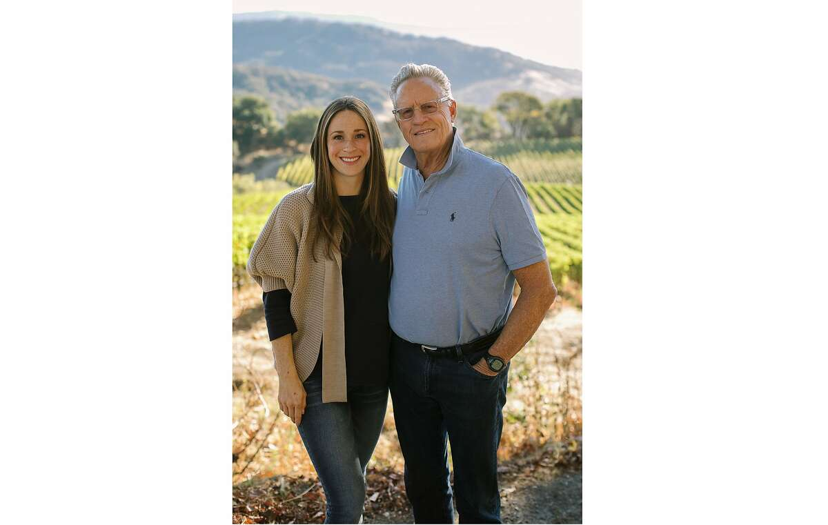 Pahlmeyer Winery president Cleo Pahlmeyer with her father, founder Jayson Pahlmeyer
