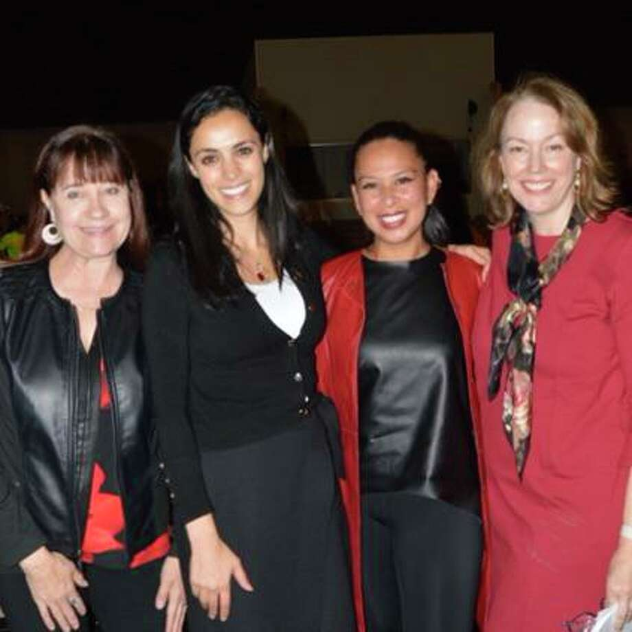 From left to right: Event Co-Chair Kim Winkeleer, cardiologist Dr. Mina Owlia, AHA Go Red Ambassador Selina Santos, and Event Co-Chair, Lynn Isaac. Photo: Contributed Photo
