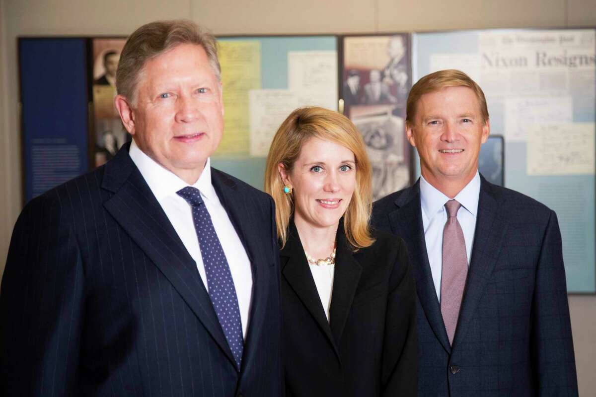Norton Rose Fulbright's Gerry Pecht, Carter Dugan and Carter Crow at the law firm offices in Houston.