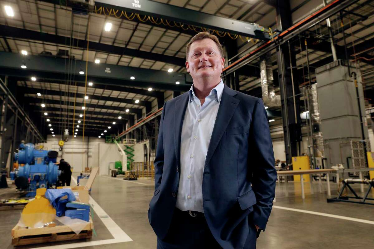 Keith Dalton, chief executive of design/build firm KDW, at the MAN Energy Solutions manufacturing facility that KDW designed and built Brookside.