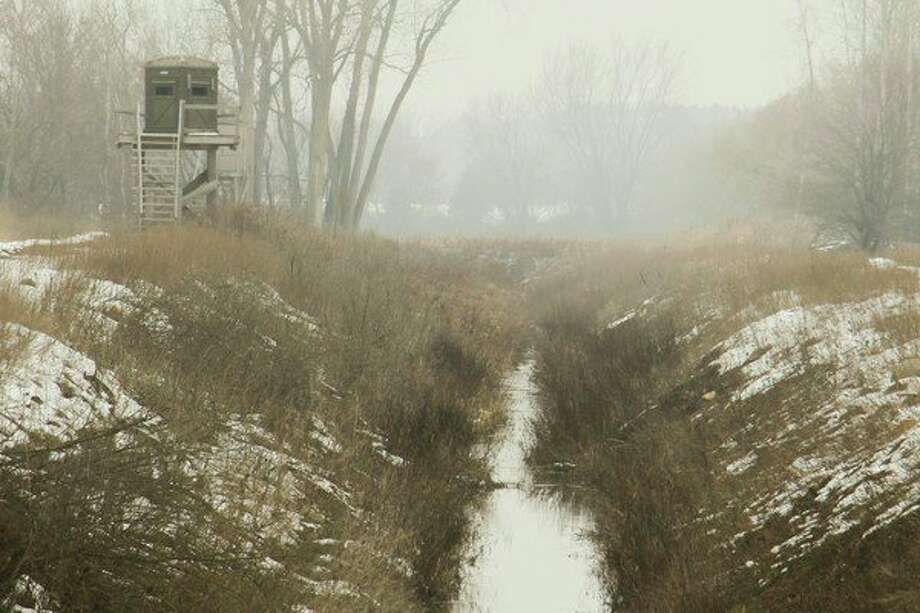 The warmer air clashed with the cold snow-covered ground to blanket the Thumb region in a dense haze for most of Nov. 19. (Scott Nunn/Huron Daily Tribune)