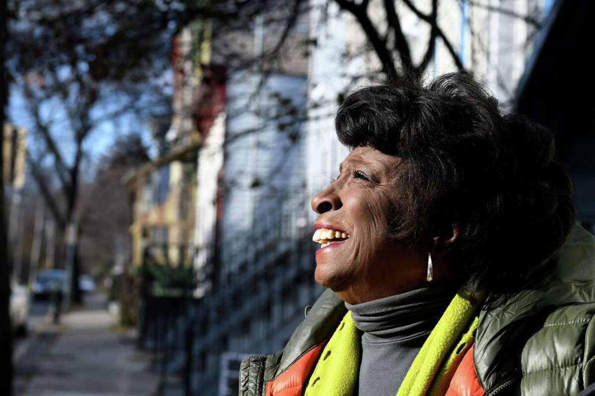 longtime Albany County Legislator Lucille McKnight turns her head toward the sunlight outside her Third Avenue home on Friday, Nov. 15, 2019, in Albany, N.Y. McKnight will leave her seat after 27 years. She lost a four-way Democratic Primary for her 2nd legislative district seat in June. Former Albany Common Council President Carolyn McLaughlin was recently elected to the seat . (Will Waldron/Times Union)
