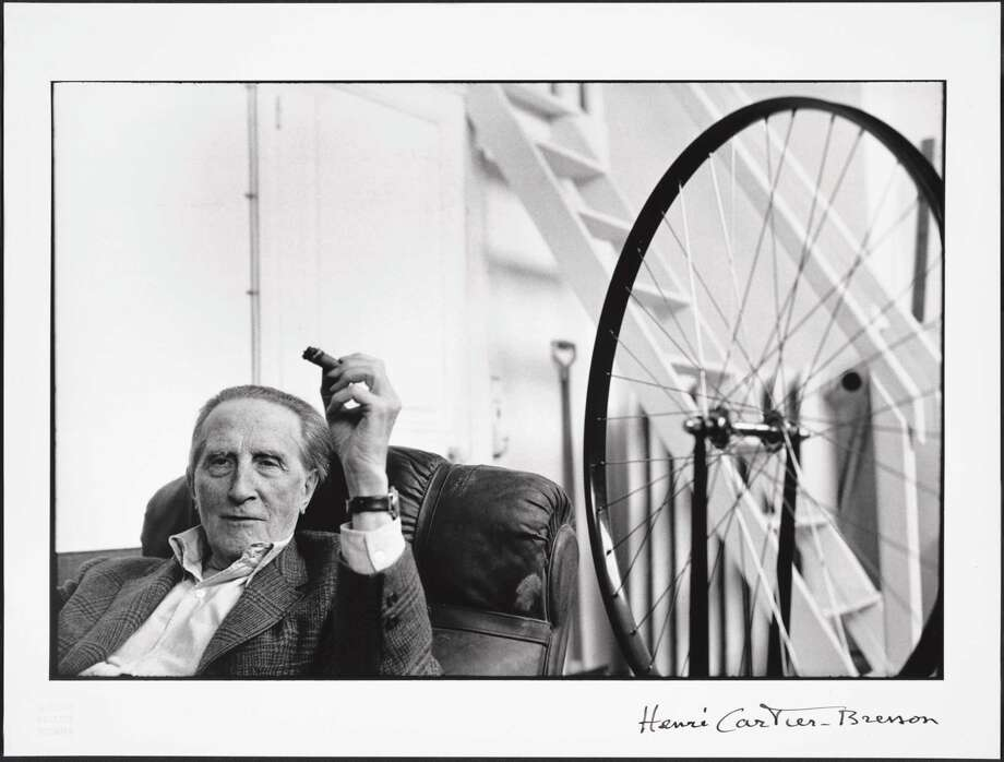 Marcel Duchamp in a 1968 photo by Henri Cartier-Bresson. Gelatin silver photograph. Photo: Henri Cartier-Bresson/Cathy Carver/Promised Gift Of Barbara And Aaron Levine/Hirshhorn Museum And Sculpture Garden / Hirshhorn Museum and Sculpture Garden, Smithsonian Institution