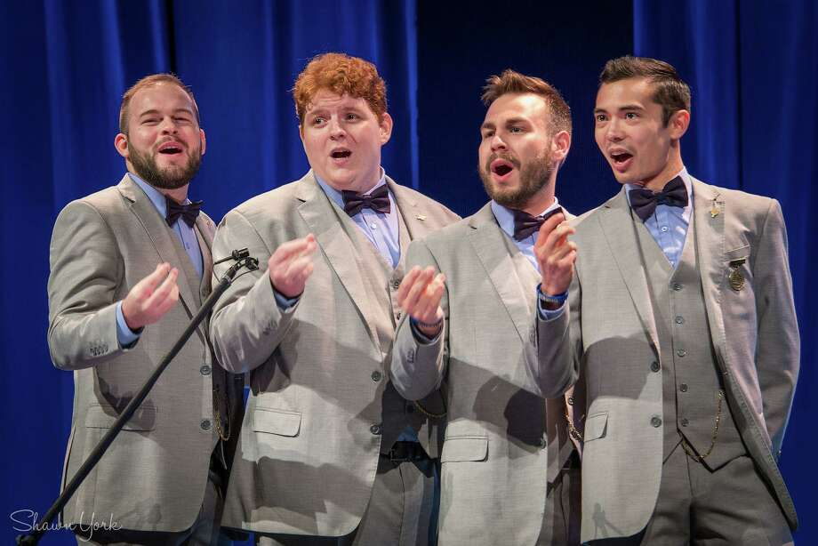 The Newfangled Four, considered one of the top barbershop quartets in the country, will be be performing holiday and barbershop classics at Trinity Episcopal Church in Fairfield's Southport section on December 8. Photo: The Newfangled Four / Contributed Photo