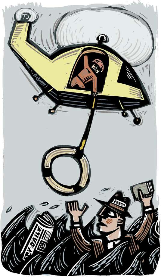Illustration about the state of newspapers Photo: William Brown / William Brown/Tribune / ©2009William L. Brown