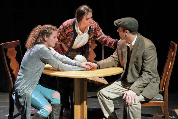 "Students in the directing class taught by Professor of Theatre ArtsSal Trapani at Western Connecticut State University will stage ""No Strings Attached: An Evening of One-Act Plays"" in the Studio Theatre in Danbury November 20-22. Pictured is a scene from last year's production."