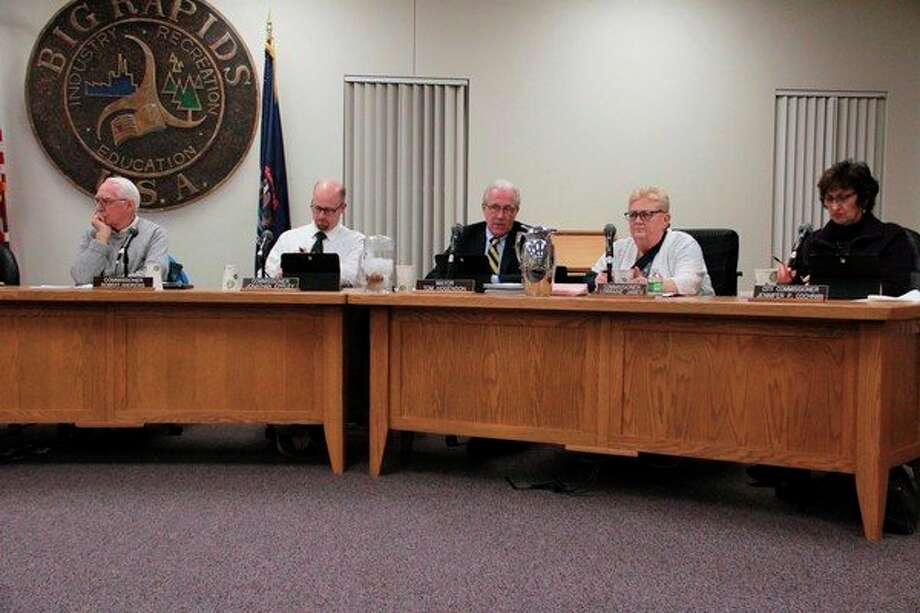 During the Nov. 18 Big Rapids City Commission meeting, the commission approved a variety of resolutions, including the installation of a new streetlight located at Magnolia Court and Cedar Street. (Pioneer photo/Alicia Jaimes)