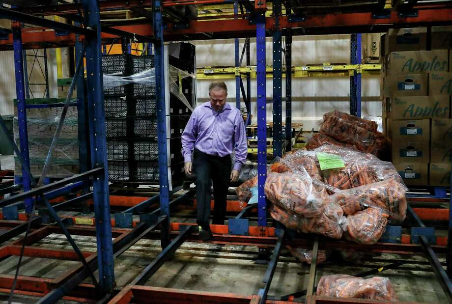 """What a tragedy, what a waste,"" said Matt Toomes, chief operating officer of the Houston Food Bank, on Tuesday, Nov. 19, 2019, in Houston. The food bank lost 1.8 million pounds of food, including produce, when a malfunction with a cooling unit caused an ammonia leak in three of the center's refrigeration areas last week. ""This is one of the busiest times of the year for us,"" he said. Photo: Jon Shapley, Houston Chronicle / Staff Photographer / © 2019 Houston Chronicle"