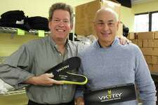 (Left to Right) Steve Wasik, CEO of VKTRY Gear and founder Matt Arciuolo.