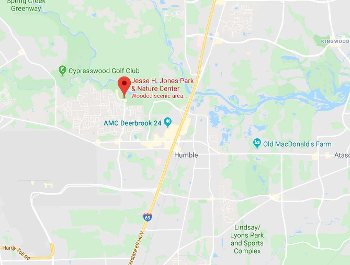 A man's dead body was discovered Tuesday at Jesse Jones Park near Humble, according to authorities.