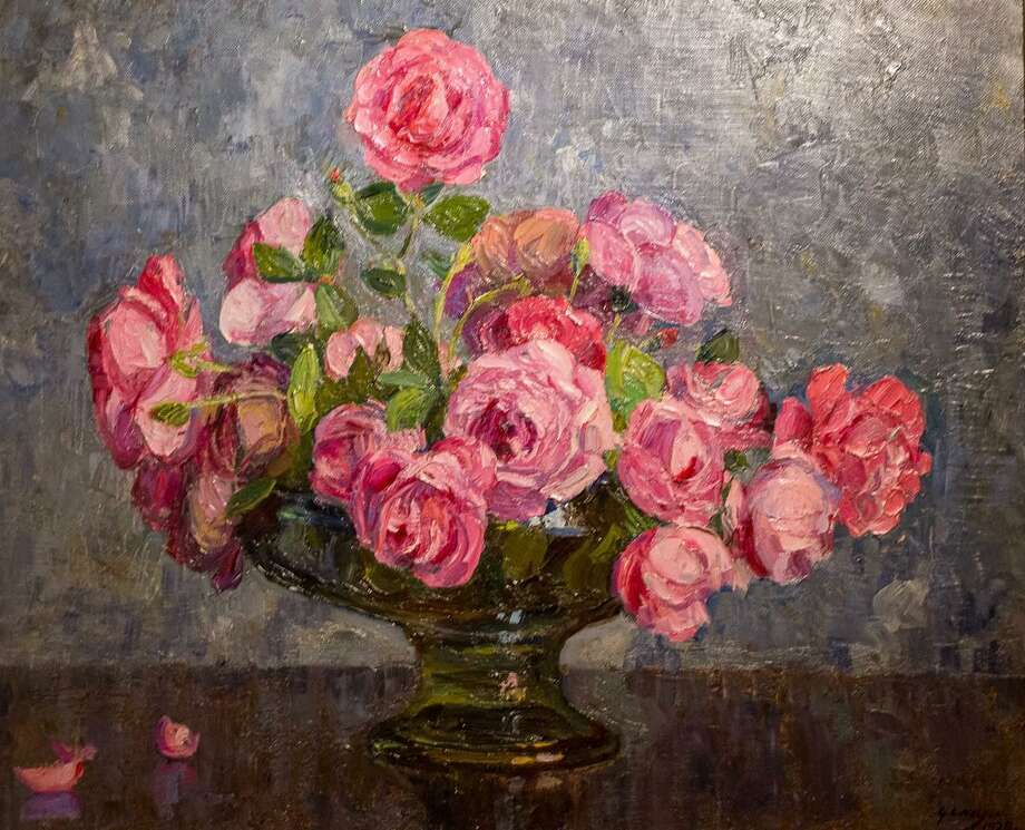 """Roses,"" oil on canvas, George Laurence Nelson, circa 1920s. Photo: Karen A. Chase / Contributed Photo"