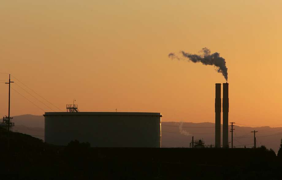 The Conoco Oil Refinery, in Rodeo, Calif. is seen at sunset,  in file photo taken Friday, Sept. 22, 2006. Photo: Rich Pedroncelli, AP