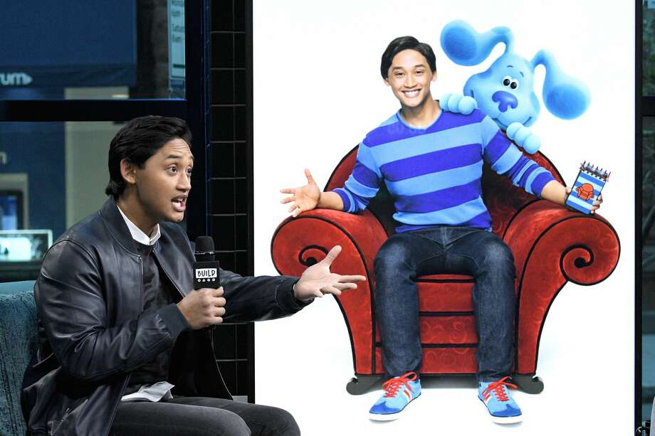 """Joshua Dela Cruz visits the Build Series to discuss the Nickelodeon live-action/animated interactive educational children's television series """"Blues Clues & You"""" at Build Studio on November 06, 2019 in New York City. (Photo by Gary Gershoff/Getty Images) Photo: Gary Gershoff/Getty Images"""