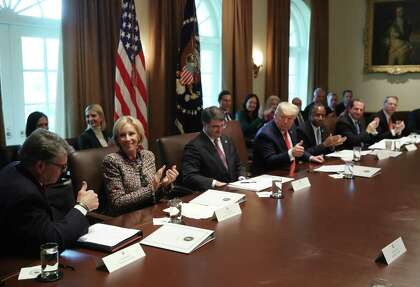 President Trump Lauds Rick Perry At Last Cabinet Meeting As