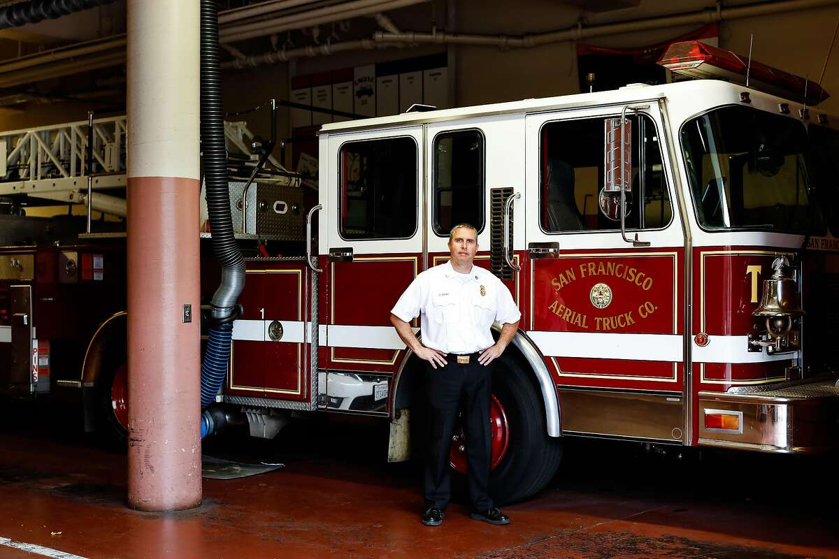 Firefighter Chief Frank Cercos IV poses for a portrait at Fire Station No. 38 on Thursday, Nov. 14, 2019, in San Francisco, Calif.