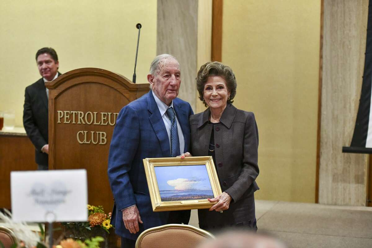 Modesta and Clayton Williams received the outstanding philanthropist award during National Philanthropy Day on Nov. 19, 2019 at the Petroleum Club of Midland. Jacy Lewis/Reporter-Telegram