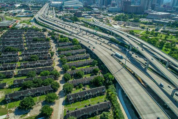 Interstate 69 crosses Buffalo Bayou northeast of downtown next to the Clayton Homes, a Houston Housing Authority complex in Houston, Wednesday, June 12, 2019. Clayton Homes would be demolished if current plans for redevelopment of Interstate 45 proceeds as planned.