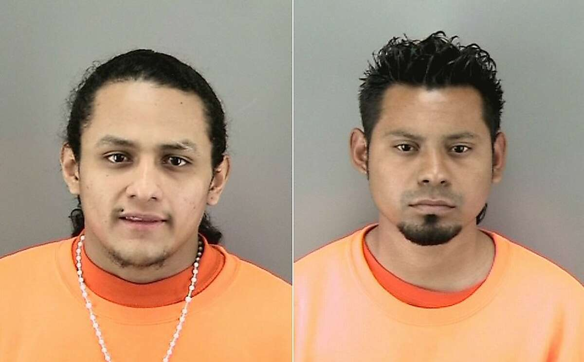 Jose Mejia-Carillo, pictured left, and Alexis Cruz-Zepeda are charged with murder and conspiracy in the killing of George Martinez on March 17, 2017 in San Francisco's Mission District.