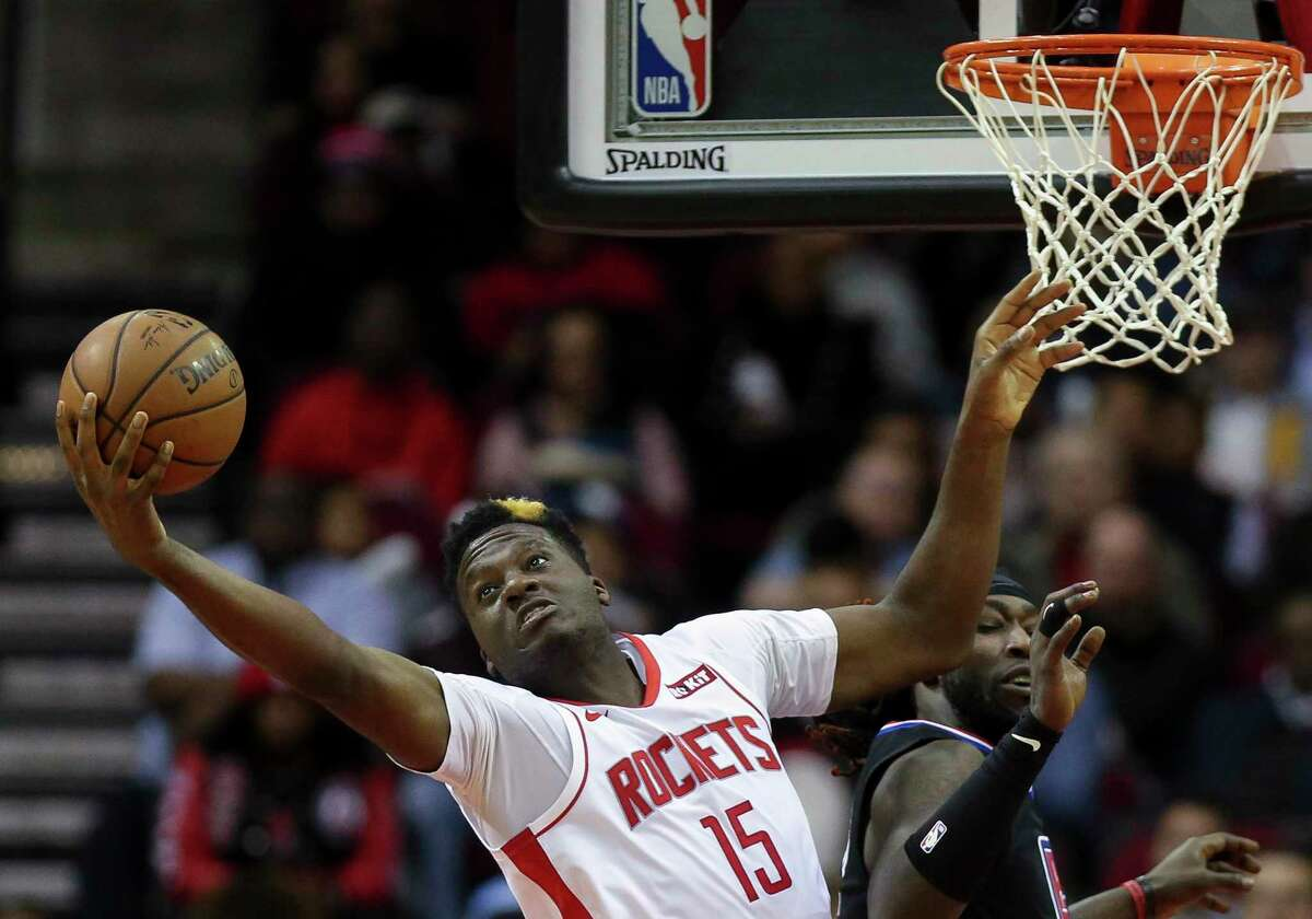 PHOTOS: Rockets vs. Nuggets Clint Capela, getting a rebound against the Clippers last week, has had 20 boards in four consecutive games. >>>See photos from the Rockets' game Wednesday ...