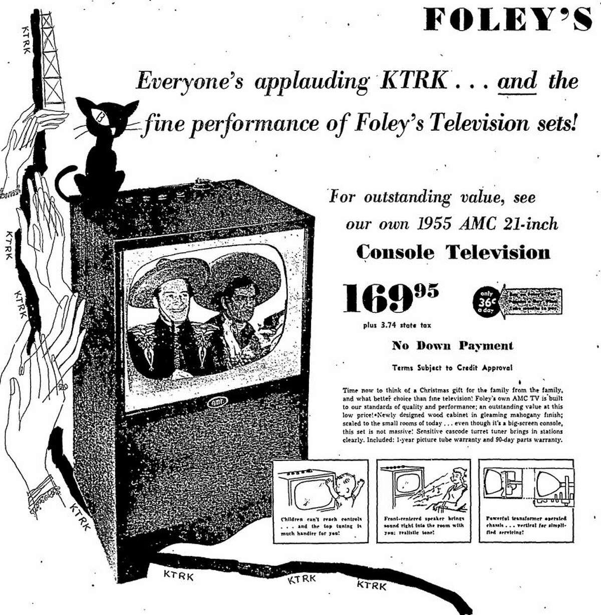 Foley's advertisement published in the Houston Chronicle on Nov. 19, 1954.