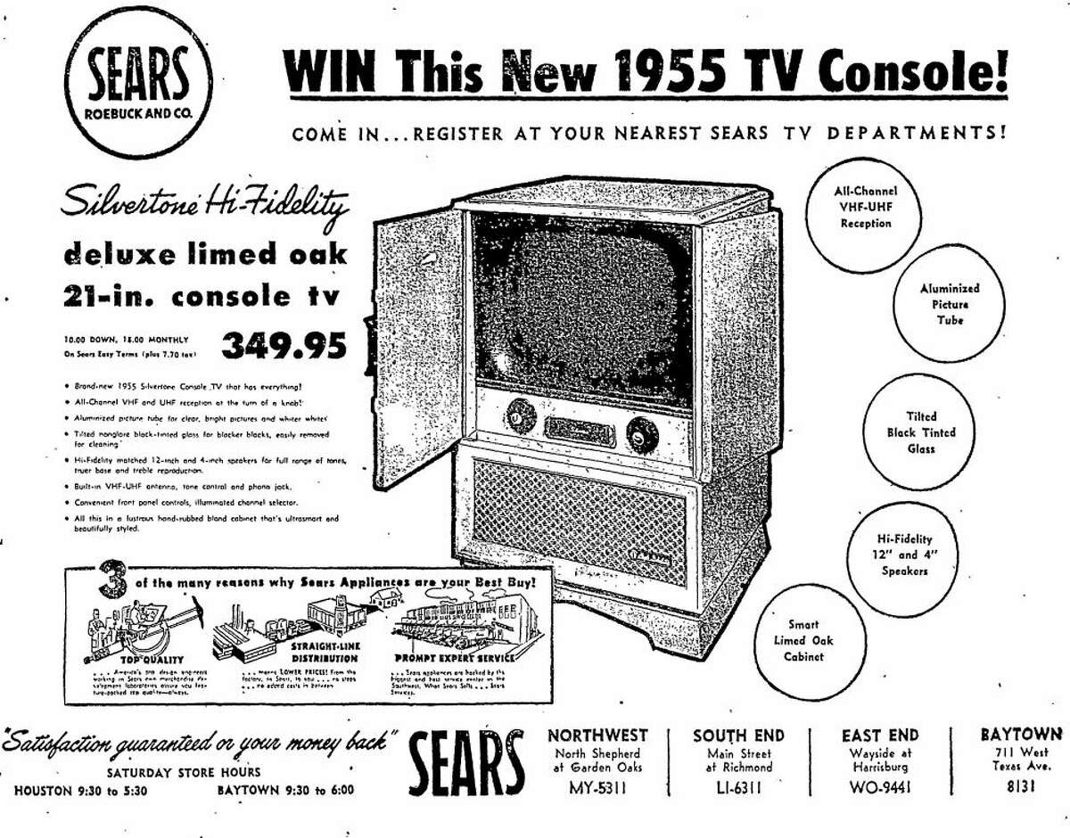 Sears advertisement published in the Houston Chronicle on Nov. 19, 1954.