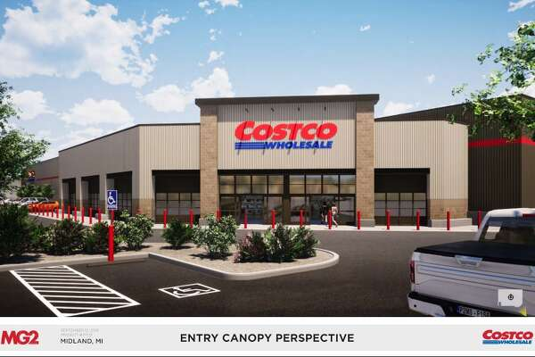 Costco submitted design renderings to the city for its proposed site in Midland, to be located at 4816 Bay City Road. (Photo provided)