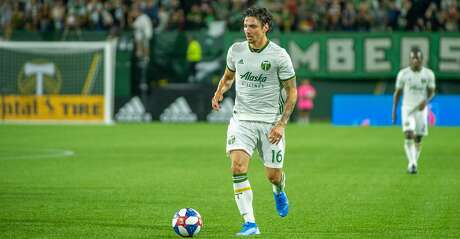 PORTLAND, OR - AUGUST 14: Portland Timbers defender Zarek Valentin drives an attack during the Portland Timbers 3-2 victory over the Chicago Fire on August 14, 2017, at Providence Park in Portland, OR. (Photo by Diego Diaz/Icon Sportswire via Getty Images).