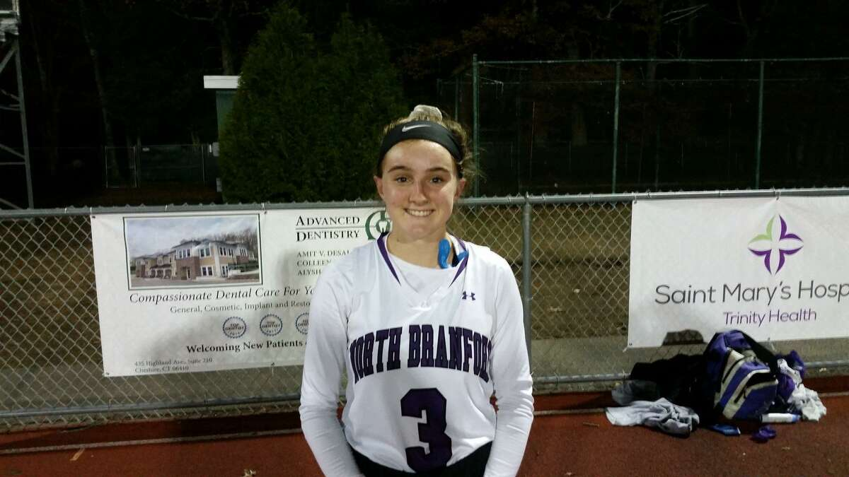 North Branford's Ava Galdenzi scored the game's lone goal in overtime in the Thunderbirds win on Tuesday.