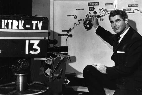 Tom Evans, KTRK weatherman, 1961.