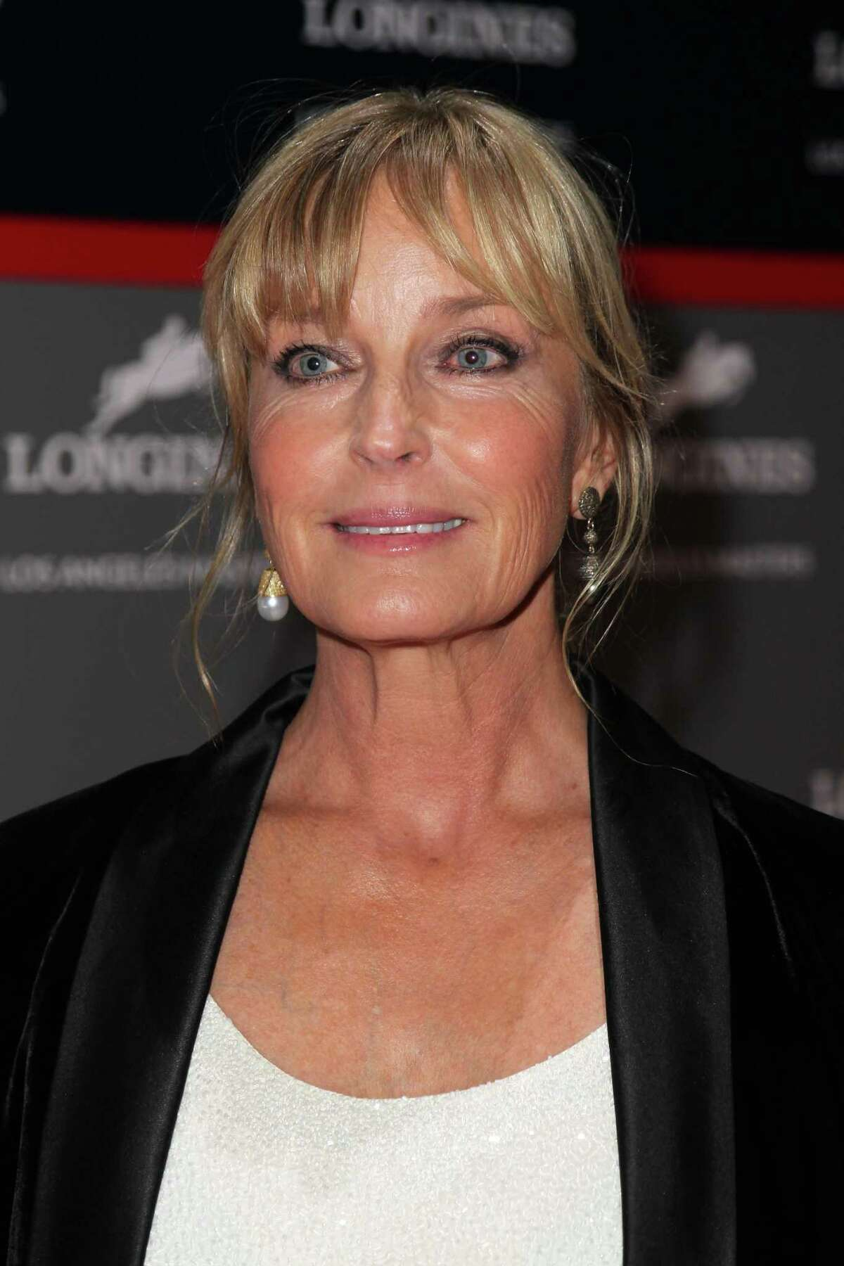 LOS ANGELES, CA - SEPTEMBER 26: Actress Bo Derek arrives at the Longines Los Angeles Masters at Los Angeles Convention Center on September 26, 2014 in Los Angeles, California. (Photo by David Buchan/Getty Images for EEM World) ORG XMIT: 513937715