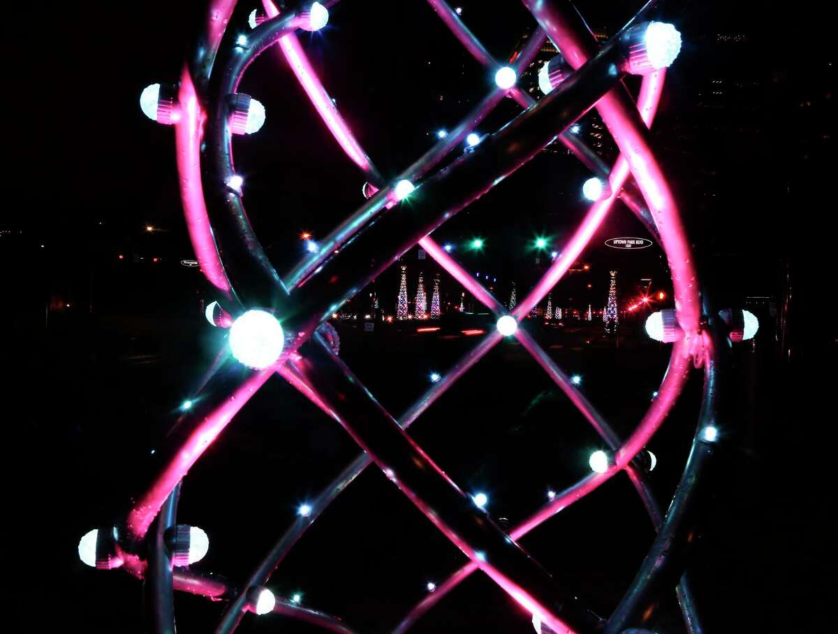 Uptown Lights holiday celebration taking place in the revamped, post-construction Uptown Park area Thursday, Nov. 14, 2019, in Houston.