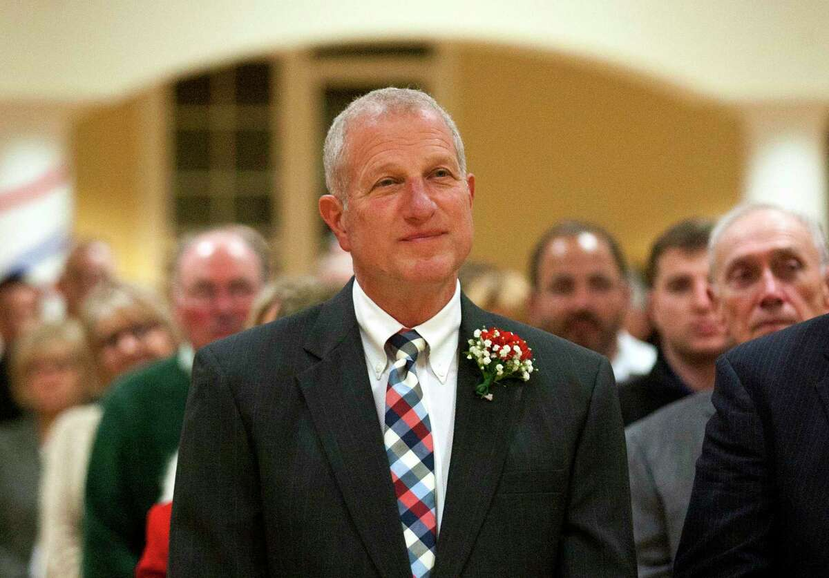 An Inauguration Ceremony for Shelton Mayor Mark A. Lauretti and other elected officials is held at the Shelton Senior Center in Shelton, Conn., on Tuesday Nov. 19, 2019. Lauretti took the oath of office to start his 15th term.