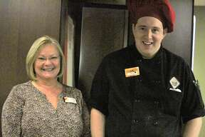 Pictured are assistant manager Vicky Rockey and employee Zachary Durfee. Both were on site when a Ferris student began choking.