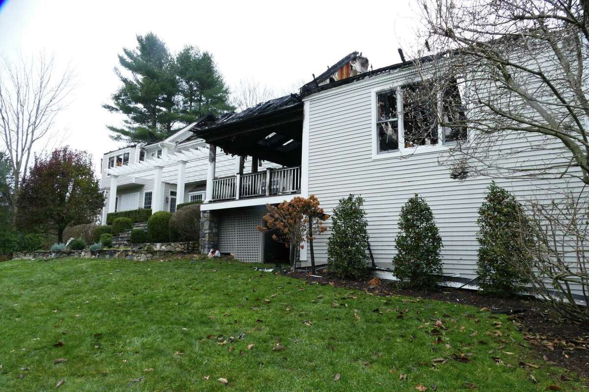 Fire destroyed a house at 322 Dan's Highway in New Canaan on Saturday, Nov. 16, 2019.