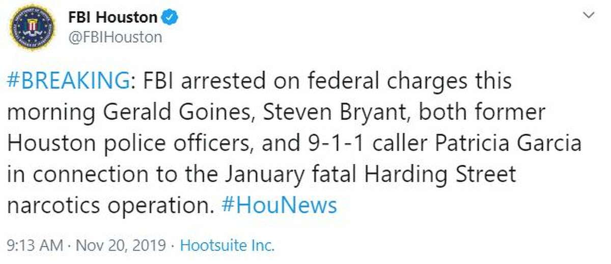 The FBI announced the arrests via Twitter on Wednesday, Nov. 20.