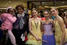 2018 Nutcracker Benefit show patrons with Emily Stute, Emma Scanlan and Caroline Meyer.