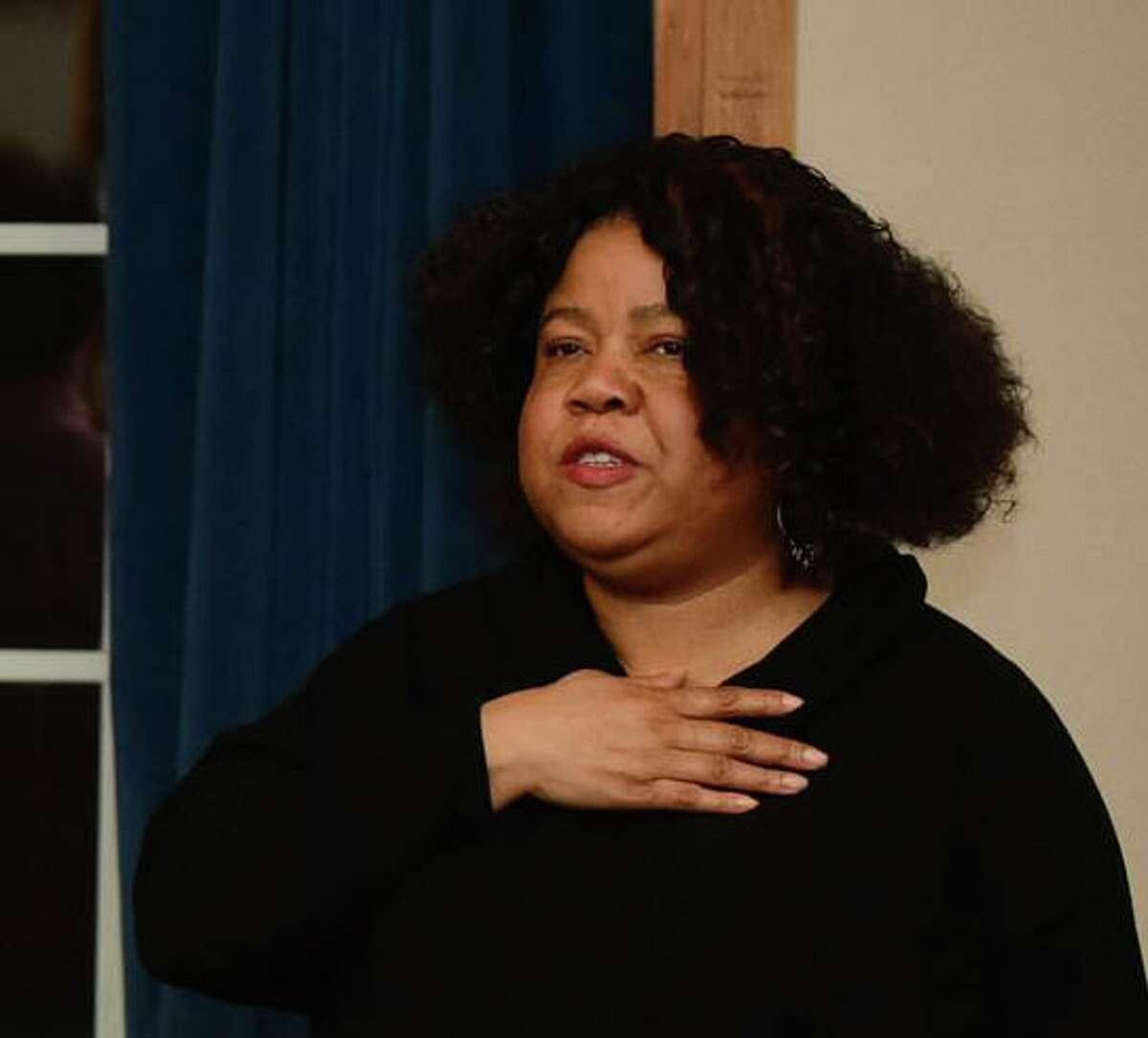 Board of Education member Sherelle Harris