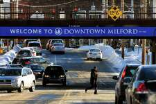 Downtown returns to normal after Thursday's nor-easter in Milford, Conn., on Friday Jan. 5, 2018. In the wake of the snow storm, extremely cold temperatures have settled in the area with temperatures dipping as low as 5 degrees in the overnight hours.