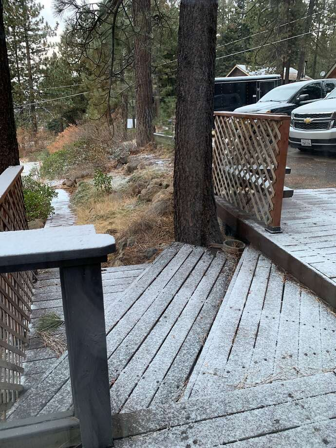 Snow fell in the area of Truckee on Wednesday morning, and weather officials said they expect more could be on the way next week. Photo: Paule Dubois Dupuis / Special To The Chronicle
