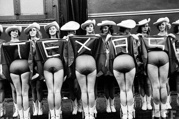 TOT: The famed Kilgore Rangerettes in a rather provocative pose, considering it was 1953!