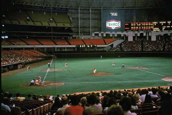 TOT: Traces of Texas reader Paula Parks Fulford kindly shared this wonderful photo of a Houston Astros game that was taken when her family visited the Astrodome in 1975. I love it partly because I saw two games there that summer. It would be crazy if I was sitting right next to Paula and her family at that game. I sure do miss the old Astrodome. Minute Maid is nice and Reliant is okay, but they're missing something. Maybe what they're missing is me, and maybe what I'm missing is my youth. Sigh ...