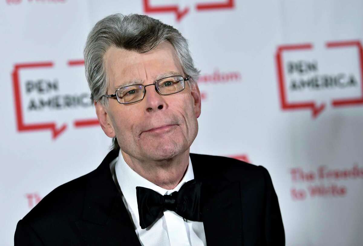 The latest book by author Stephen King, shown attending the 2018 PEN Literary Gala at the American Museum of Natural History in New York, includes a character who works as a reporter at the Times Union newspaper in Albany. (Photo by Evan Agostini/Invision/AP, File)