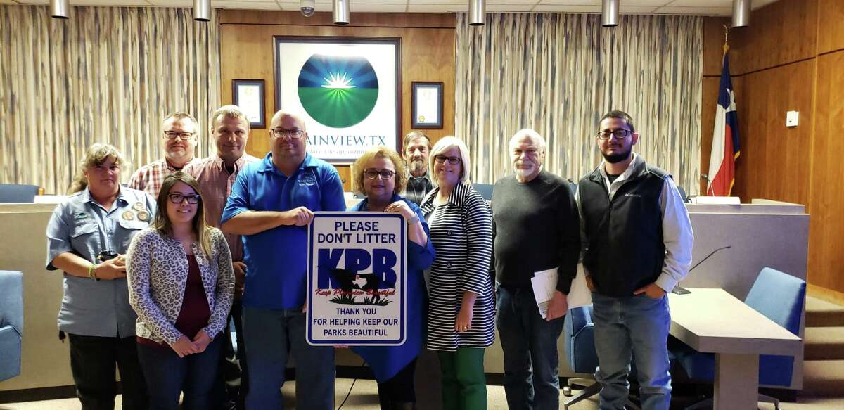 Keep Plainview Beautiful board members gather at City Hall on Monday to learn what more the organization has to do to become a Keep America Beautiful affiliate.