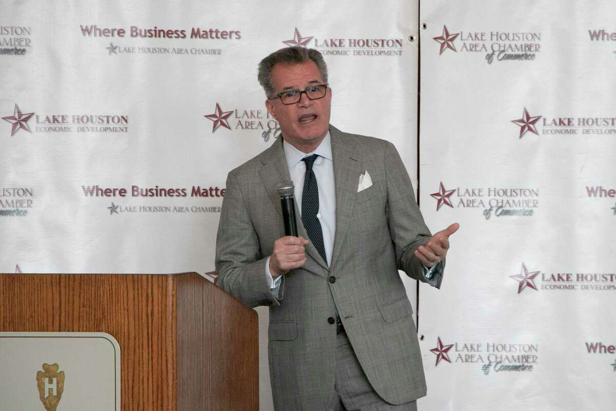 Freddy Warner, Chief Government Relations Officer at Memorial Hermann Health System, spoke at the Lake Houston Chamber of Commerce State of Healthcare luncheon on Nov. 19.