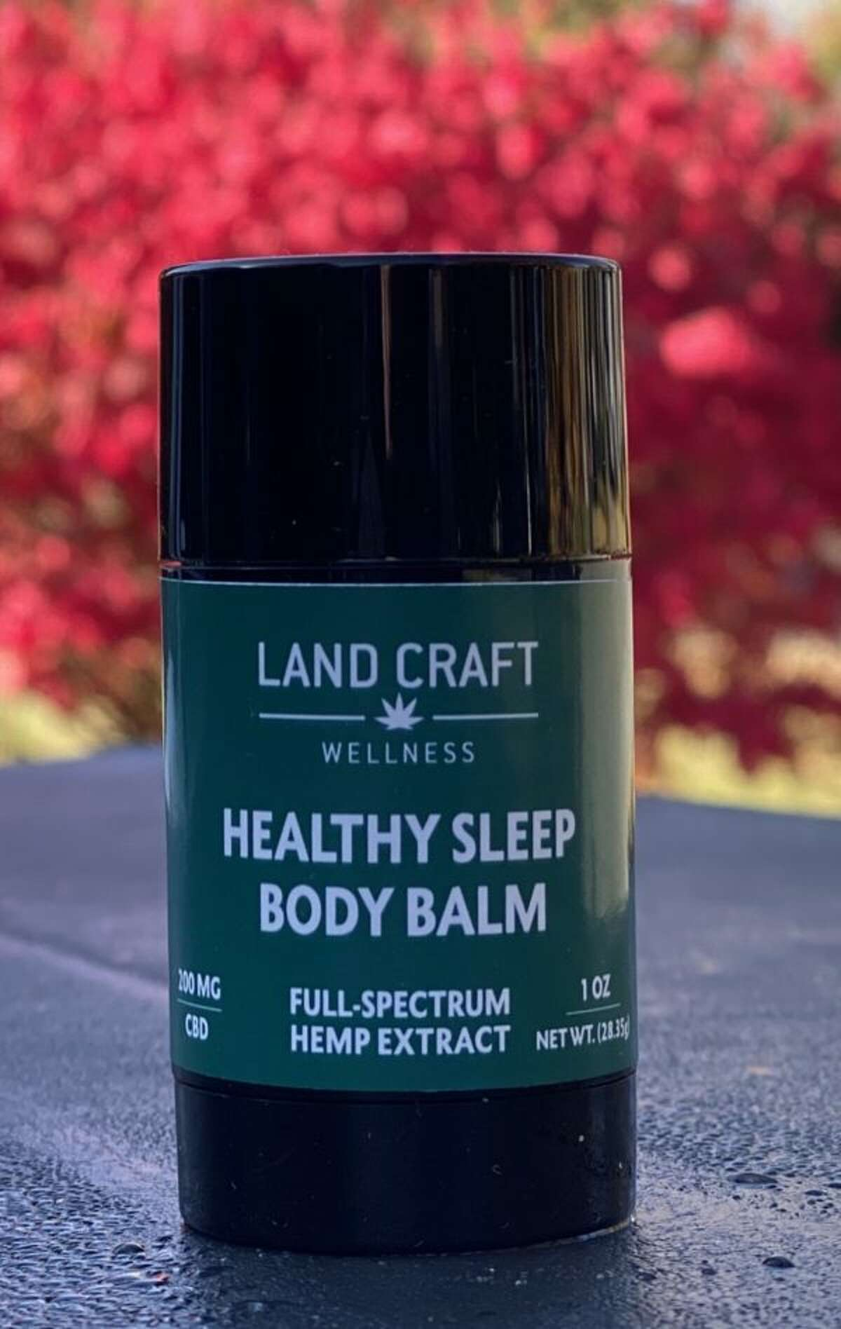A balm from LandCraft Wellness. The Washington County company makes products with CBD oil, an extract of hemp that is said to ease various ailments and promote general wellbeing. (Photo courtesty LandCraft Wellness.)