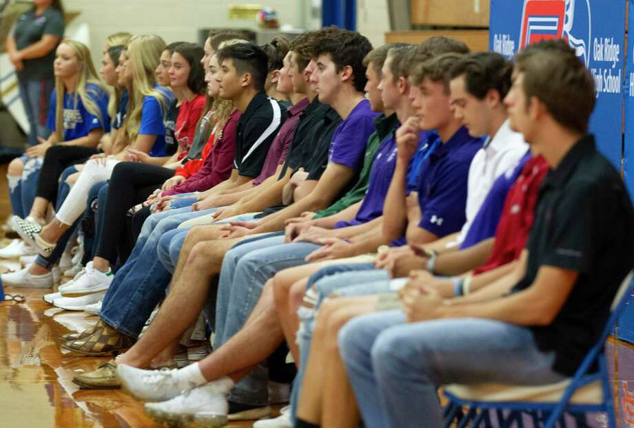 Twenty-five athletes signed to play various sports at the collegiate level during a signing day ceremony at Oak Ridge High School, Wednesday, Nov. 20, 2019. Photo: Jason Fochtman, Houston Chronicle / Staff Photographer / Houston Chronicle