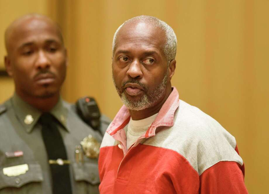 Stamford's Robert Simmons, 51, is arraigned on charges of murder, felony murder and home invasion at Connecticut Superior Court in Stamford, Conn. Wednesday, Nov. 20, 2019. Simmons allegedly murdered 93-year-old Isabella Mehner in her Stamford South End home on Sept. 25. According to the medical examiner, Mehner's injuries were not consistent with a fall down the stairs, and Simmons was identified as a suspect in the homicide using DNA analysis to match a spot of blood found on his pants to Mehner. Photo: Tyler Sizemore / Hearst Connecticut Media / Greenwich Time