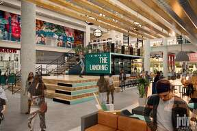 Design rendering of Oakland Assembly at 55 Harrison Street in Jack London Square, expected to open in summer 2020 with a full offering of exciting and notable local favorites.